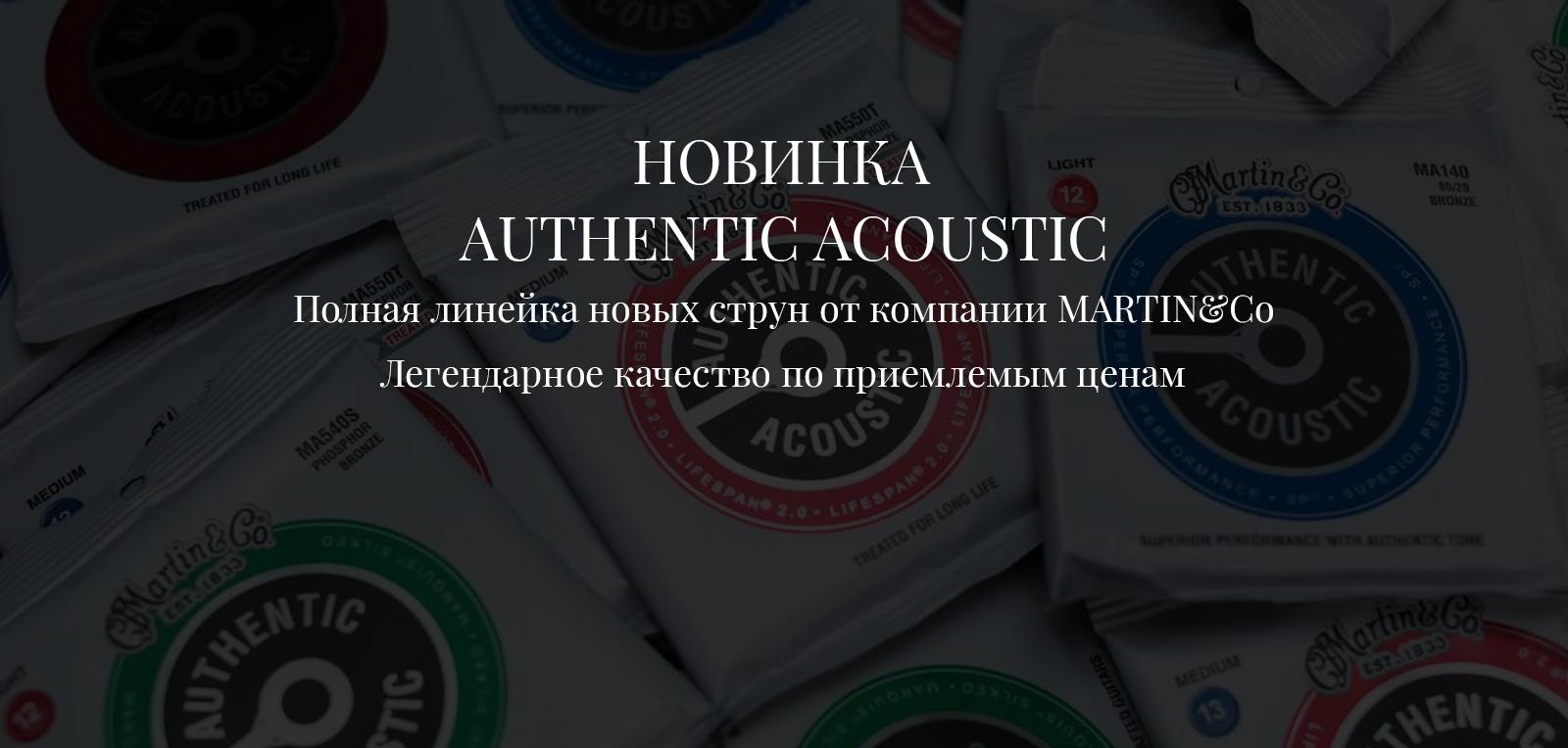 Струны Martin Authentic Acoustic